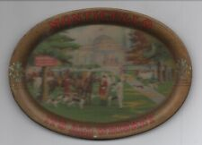 1905 Advertising Tip Tray with Fox Hunt Scene for Monticello Whiskey