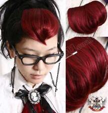 PUNK PIN UP GIRL HAIR EXTENSION clip-on BANGS VAMP RED