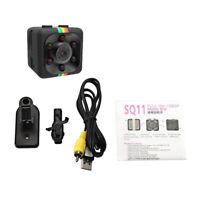 Sq11 Mini Caméra Hd 1080 P Night-Vision Caméscope Voiture Dvr Enregistreur H6D5