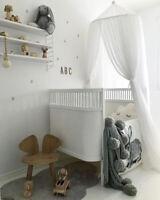 Betthimmel Baldachin Tüll Baby Bett Kinderbett Moskitonetz Zelt Weiß