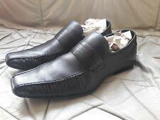 Barratts Zante men's black leather slip-on smart shoes UK9