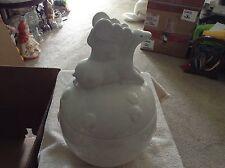 Woolrich winter white ceramic cookie jar
