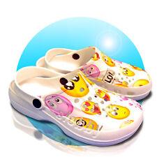 Damen Clogs Schuhe Hausschuhe Badeschuhe Kinder Slobby 36-41 lustig Bedruckt