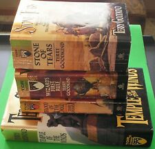 The Sword of Truth 4-Books Set TERRY GOODKIND Lot Wizards Blood Stone Temple