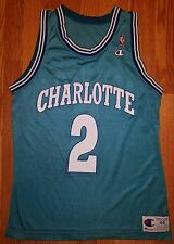 LARRY JOHNSON Charlotte Hornets CHAMPION NBA Jersey Men's Size 44 EUC Vintage