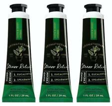 3 Bath Body Works EUCALYPTUS SPEARMINT Shea Butter Hand Cream 1 oz STRESS RELIEF