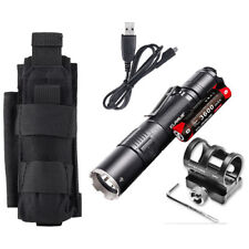 Klarus XT2CR Rechargeable Flashlight w/Battery, GM02 Gun Mount +Tactical Holster