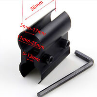 11mm-25mm Universal Rifle Gun Barrel Mount Laser Torch Scope Flashlight Clamp