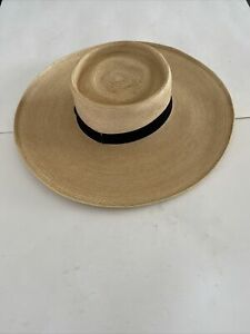 Mens Plantation Straw Hat Pre Owned