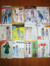 VTG LOT of Girls sz 7-16 dress outfits patterns Simplicity McCalls Gunne Sax PJ