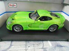 DODGE CHRYSLER Viper GTR 2013 SRT green grün Muscle Car US Maisto 1:18