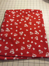 52x22 Standard Daycare cot sheet 1 Paw heart print