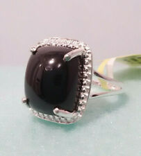 Thai Black Spinel in Sterling Silver Ring Size 5 TGW 7.25 cts