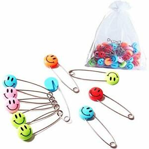Baby Safety Pins Assorted Plastic Head Diaper Locking Babies Cloth Nappy 50 Pcs
