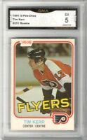 1981-82 O-Pee-Chee #251 Tim Kerr RC | Graded EX | Philadelphia Flyers