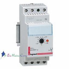 Thermostat d'ambiance modulaire réglage 3° à 30° 2 modules Legrand 03840
