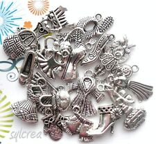 lot 16 breloques mixte MODE : Chaussure Robe Accessoire Sac....perle métal