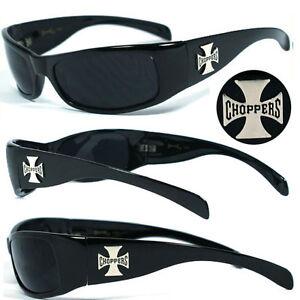 Choppers Mens Motorcycle Biker Sunglasses UV400 - Black C11 B