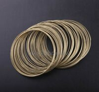 100/500 Loops Silver/Gold Plated Memory Steel Wire Diy Cuff Bangle Bracelet