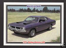 1971 DODGE DEMON 340ci V8 Mopar Muscle Car Photo 1992 SPEC TRADING CARD