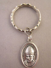 Silver Plated Pope John Paul II  / The Vatican Medal Italy Key Ring