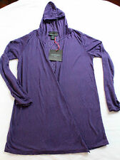 CYNTHIA ROWLEY Womens PURPLE  HOODY BOLERO JACKET NWT M  MEDIUM  $159