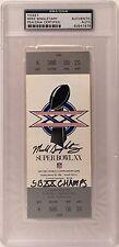 "Mike Singletary Signed Replica Super Bowl XX Ticket Football ""SB XX Champs"" PSA"