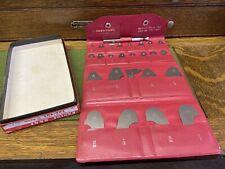 Mitutoyo 186 901 Stainless Hardened Radius Gage Set In Box