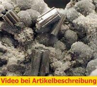 7683 classic Bournonite Boulangerite Calcite ca5*10*6cm Trepca Kosovo 1970 MOVIE
