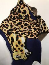 Paul Smith Women Scarf Made In Turkey Animal Navy