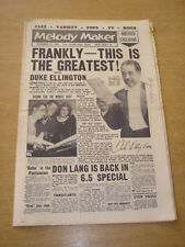 MELODY MAKER 1958 SEPTEMBER 27 DUKE ELLINGTON DON LANG SIX-FIVE SPECIAL JAZZ +