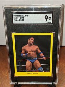 1997 Cardinal WWF Trivia Series Rocky Maivia The Rock SGC 9 MINT