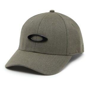 Oakley Men's Novelty Tin Can Cap Dark Brush L/XL - Metal Ellipse Logo - Classy!