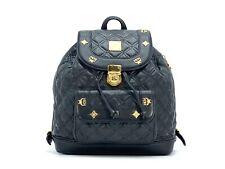 MCM Mini Rucksack Backpack Schwarz Quilted Leder Gesteppt Tasche Shopper Small