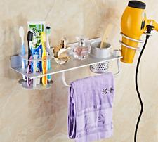 Bathroom Storage Rack Towel Hair dryer Toothbrush Holder Aluminum Heavy-duty NEW