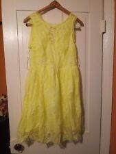 Modcloth M Lime green yellow Lace Dress