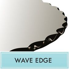 """36"""" Round Clear Tempered Glass Table Top 1/2"""" thick - Wave edge by Spancraft"""