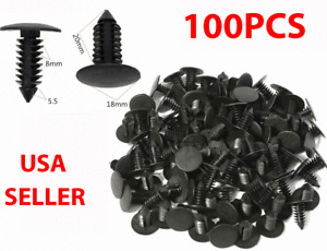 100X 8mm Bumper Clips Auto Car Hole Plastic Rivets Fastener Fender Push Pin NEW