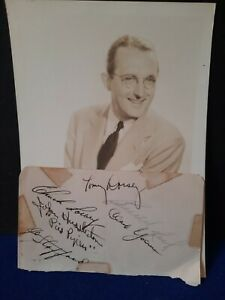 Tommy Dorsey & Pied Pipers Signed Autograph Album Page NO RESERVE