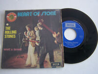 SP 2 TITRES VINYLE 45 T , THE ROLLING STONES , HEART OF STONE . VG  / VG -