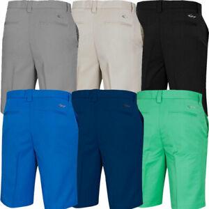 Greg Norman Mens Hybrid Modern Flat Front Pro Golf Shorts / NEW 2021