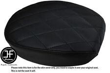 Dos Tono Diamante Negro Personalizado se ajusta Harley Sportster 883 48 Vinilo Cubierta de Asiento Trasero