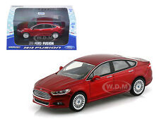 2013 FORD FUSION RUBY RED METALLIC WITH CASE 1/43 MODEL CAR BY GREENLIGHT 86035