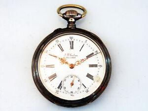 Schöne Taschenuhr, 800 Silber; um 1900; Spiral Paillard, brevete