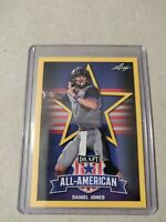 Daniel Jones 2019 Leaf Draft Football All American Gold Duke Blue Devils
