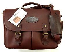 BOB TIMBERLAKE Vintage Aktentasche Umhänge Messenger Laptop Koffer Braun Leder
