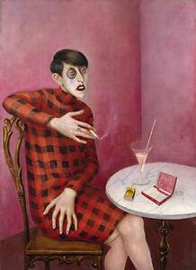OTTO DIX - Portrait of Sylvia von Harden (1926) (62x45), CANVAS, POSTER FREE P&P