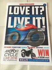 Motorcycle Live 2016 Show Programme NEC Birmingham