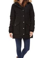 Levi's Women's Faux-Fur-Trim Hooded Black Parka Coat / Jakcet  (LW6RP445) Size L