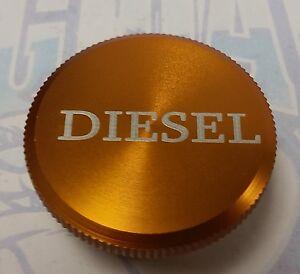 DIESEL BILLET ALUMINUM MAGNETIC FUEL CAP GOLD 2013-2017 DODGE 6.7L RAM